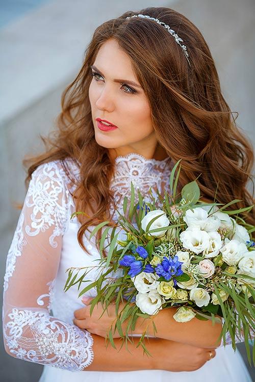 Портрет невесты в белом платье